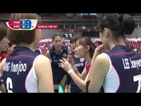 Today Dominican Republic vs Korea   22 May 2016   2016 Womens World Olympic Qualification Tournament