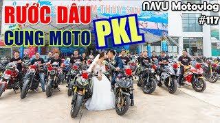 Đoàn moto PKL & Exciter diễu hành rước dâu trong ngày cưới của NAVU | Motovlog 117