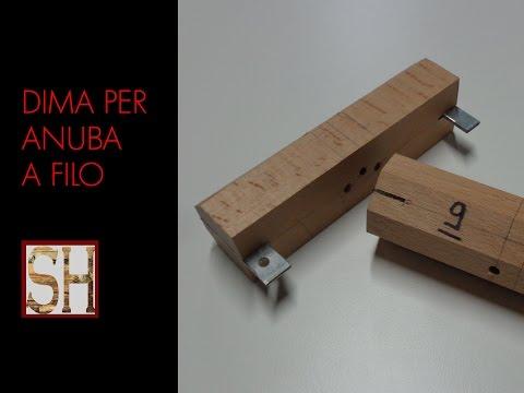 Dima per montare cerniere tipo Anuba a filo - Autocostruzione