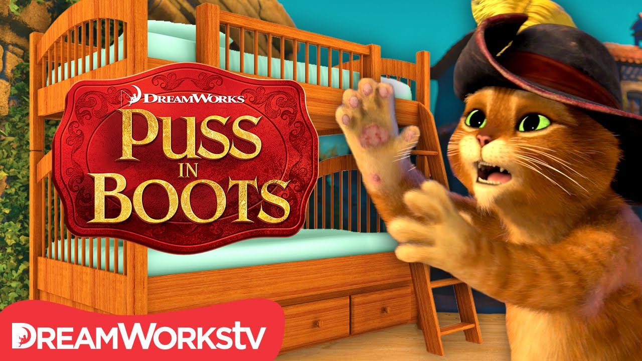 bunk bed booby trap | new puss in boots - youtube