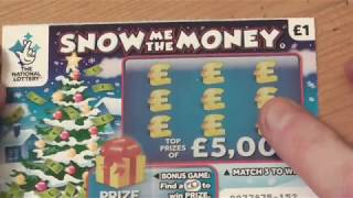 scratch cards,  snow me the money,  LOTS OF WINNERS.