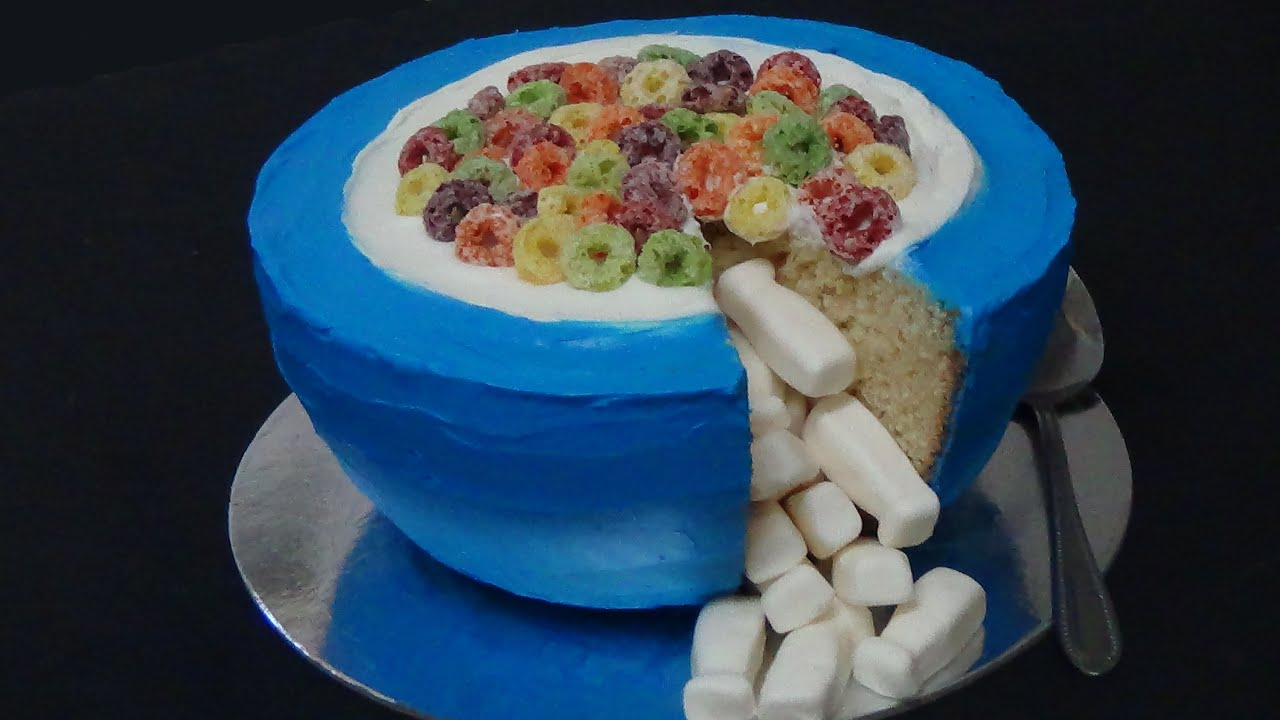 How to make cereal pinata cake youtube how to make cereal pinata cake ccuart Image collections