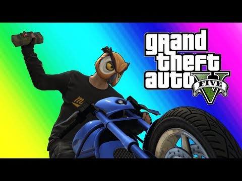 Thumbnail: GTA5 Online Funny Moments - Bikers VS RPG!