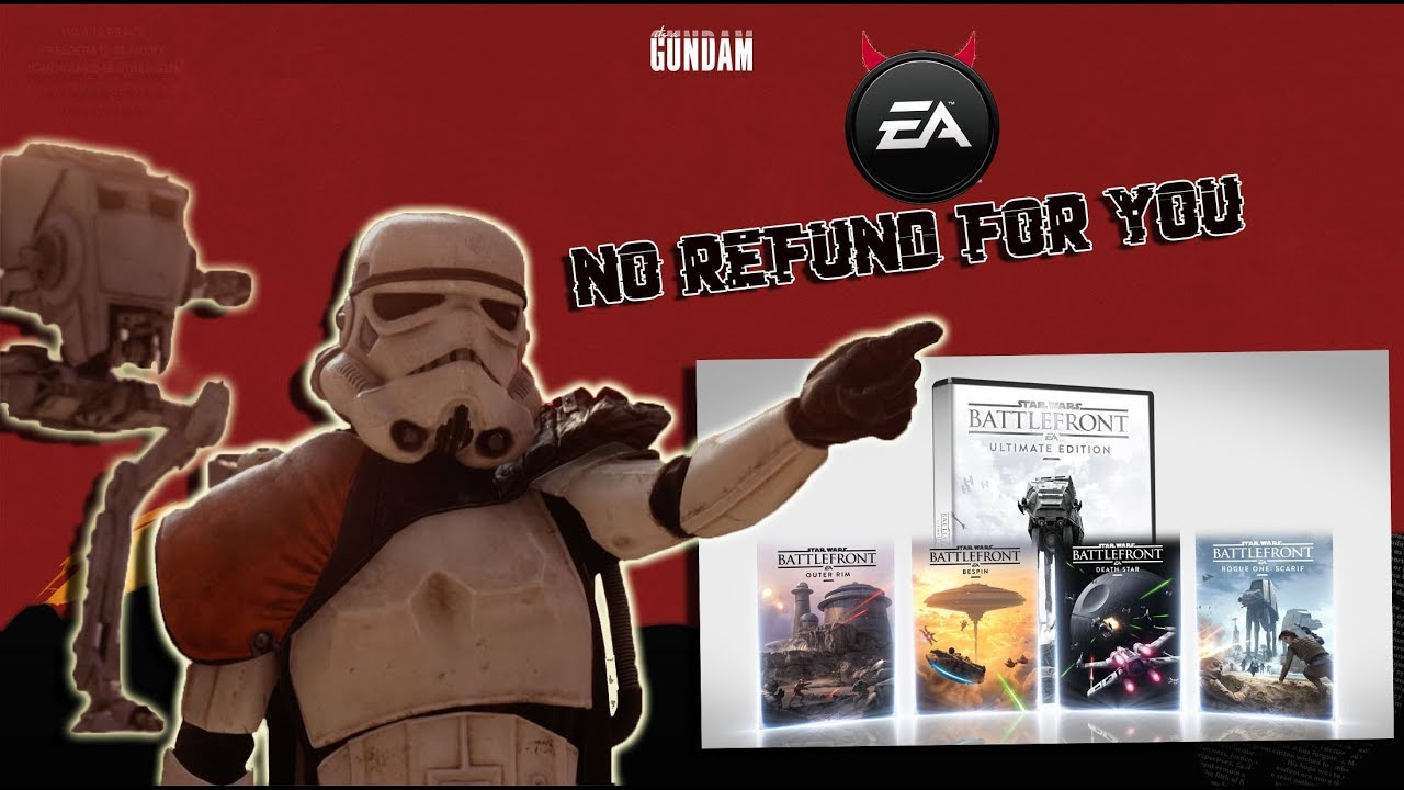 Download Guy loses his mind & buys Starwars: battlefront & EA refuses to give him a refund