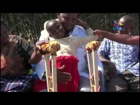 Eight year old Mwingi accident survivor's leg amputated