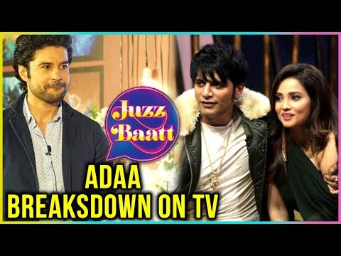 After Divyanka Tripathi, Adaa Khan BREAKSDOWN At Rajeev Khandelwal's Show JuzzBaat