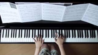 使用楽譜;月刊ピアノ2016年10月号、 楽譜記載の難易度;星 × 2/5、
