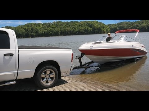 How To Launch A Boat By Yourself (Bunk Trailer)