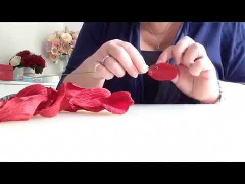 How To Make Italian Crepe Paper Rose Tutorial