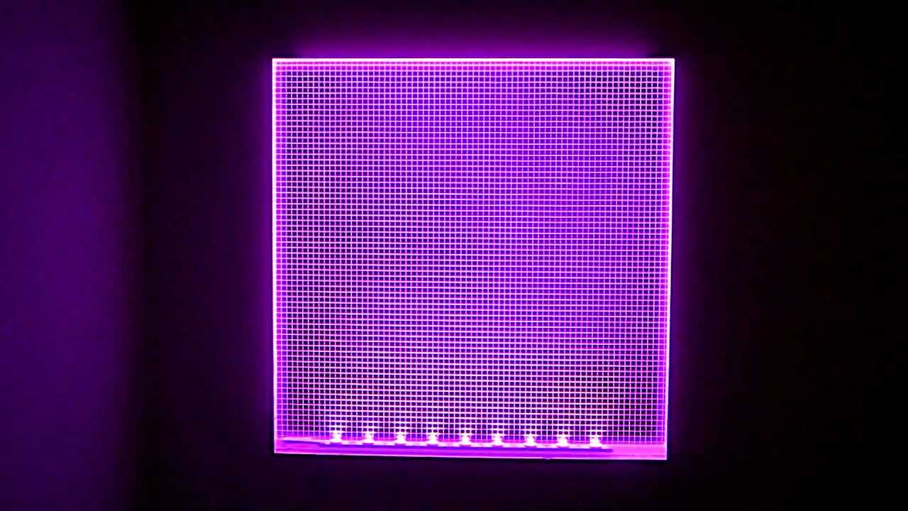 Rgb led light panels colour changing demonstration youtube - Led panel kuchenruckwand ...