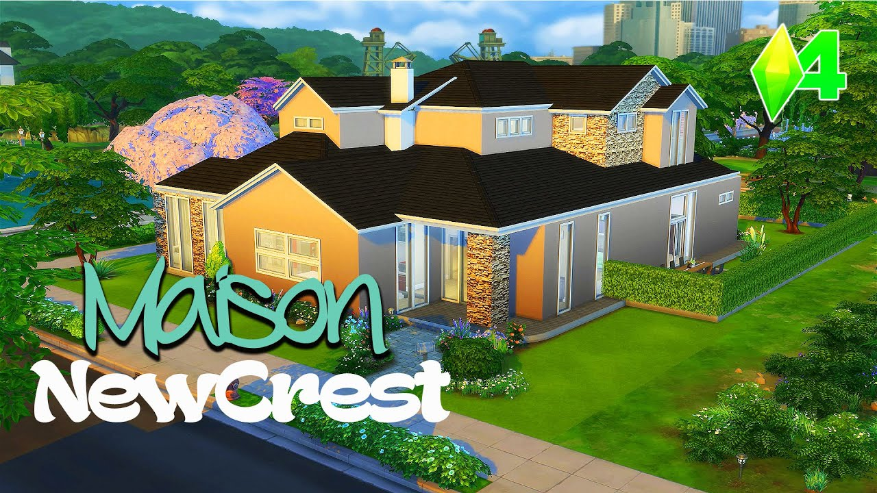 D co co sims 4 maison newcrest youtube for Decoration maison sims 4