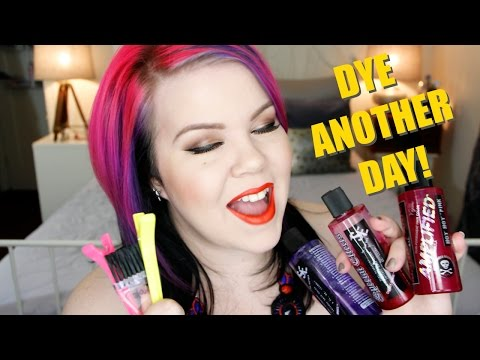 DYE ANOTHER DAY! How To Dye Your Hair Vibrant Pink, Purple and Black!
