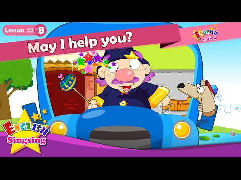 Lesson 22_(B)May I help you? - Cartoon Story - English Education - Easy conversation for kids