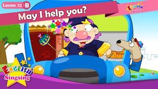 Leçon 22_(B)puis-je vous aider? Bande dessinée de l'Histoire - Enseignement de l'anglais - une conversation Facile pour les enfants