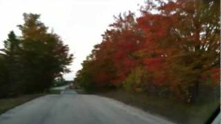 Fall Foliage Wisconsin Door County North Bay Oct 2011 - Scenic Drive