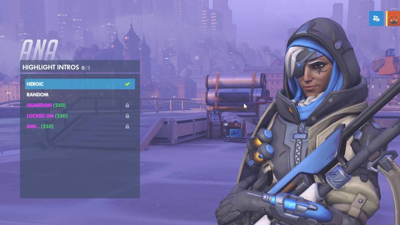 Ana Emotes all ana intros, emotes and voice lines - overwatch new hero unlockables