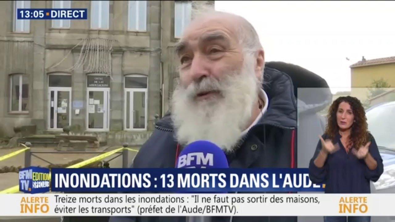 Inondations dans l'Aude: le maire de Villegailhenc salue la solidarité des habitants