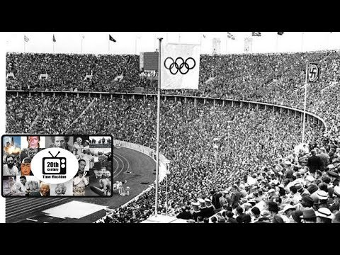 Highlights of the 1936 Summer Olympic Games In Berlin, Nazi Germany.