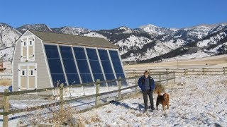 Как солнце и воздух на 100% отапливают дом (9-й тип солнечного отопления)