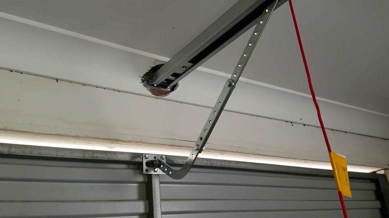 Diy Garage Door Opener Tilt Door Or Sectional Door Youtube