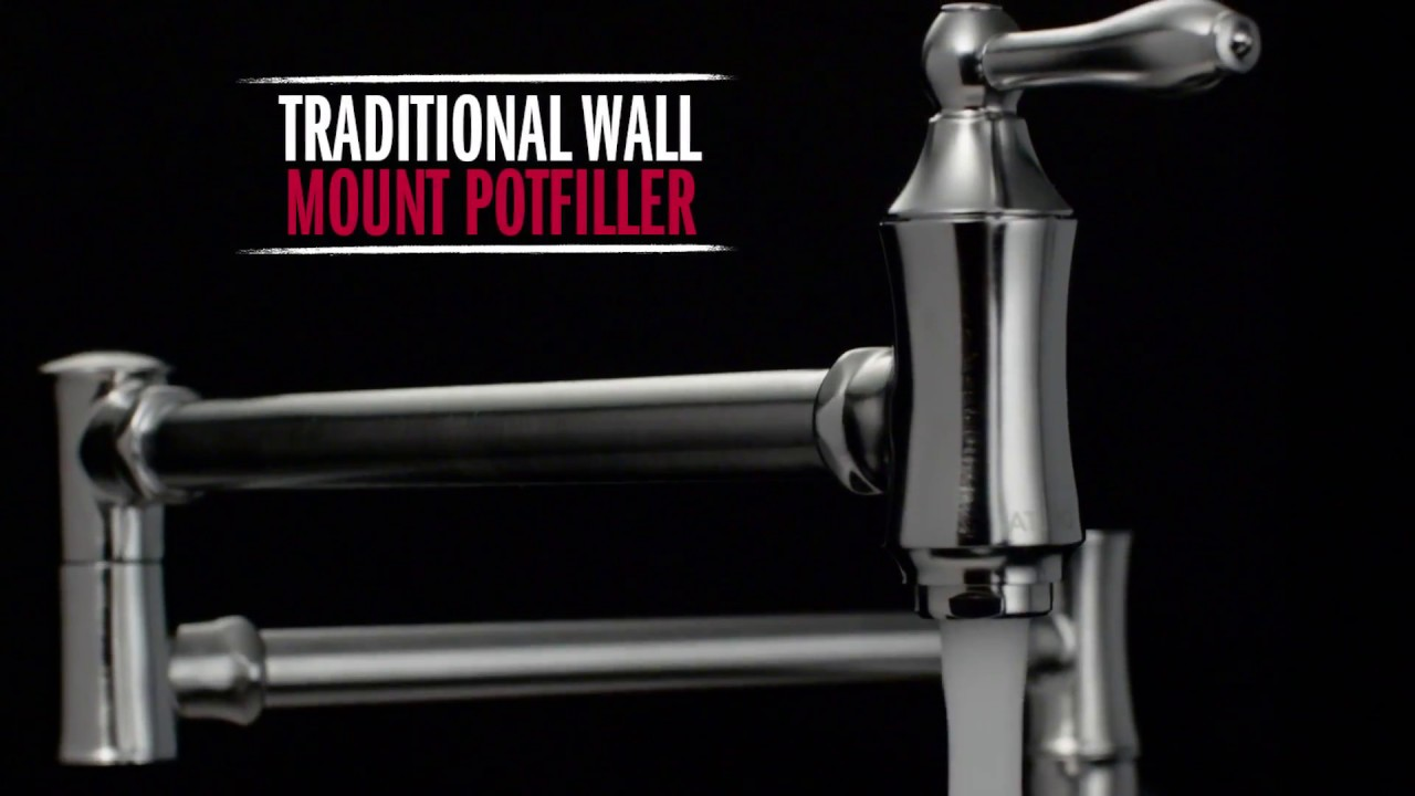 Delta Faucet Traditional Double Handle Pot Filler - YouTube