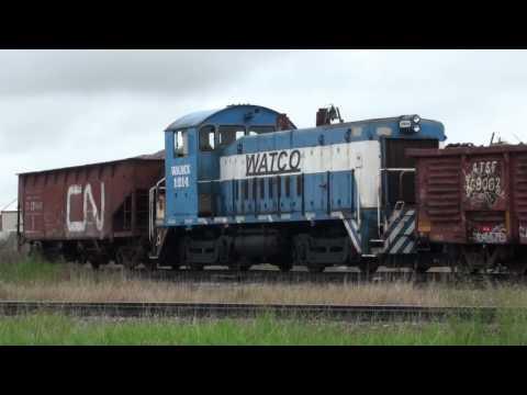 Trains at Columbia Falls, Montana, July 2012