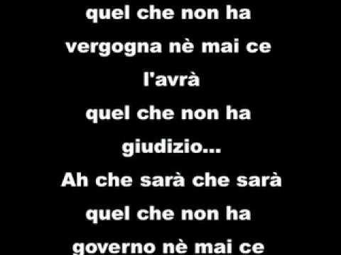 OH CHE SARÀ CHE SARÀ (Chico Buarque De Hollanda) testo italiano di Ivano Fossati