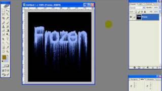 Photoshop Frozen Text