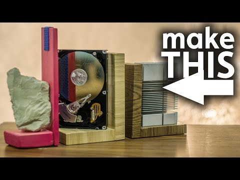 DIY Upcycled Book Holders / Ends with Wood and PC Parts