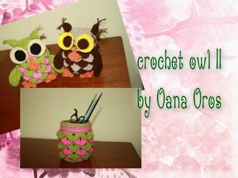 crochet owl door stop II