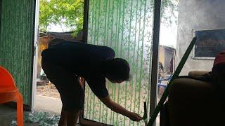 Cara pasang stiker kaca film jendela) How to install window film glass stickers