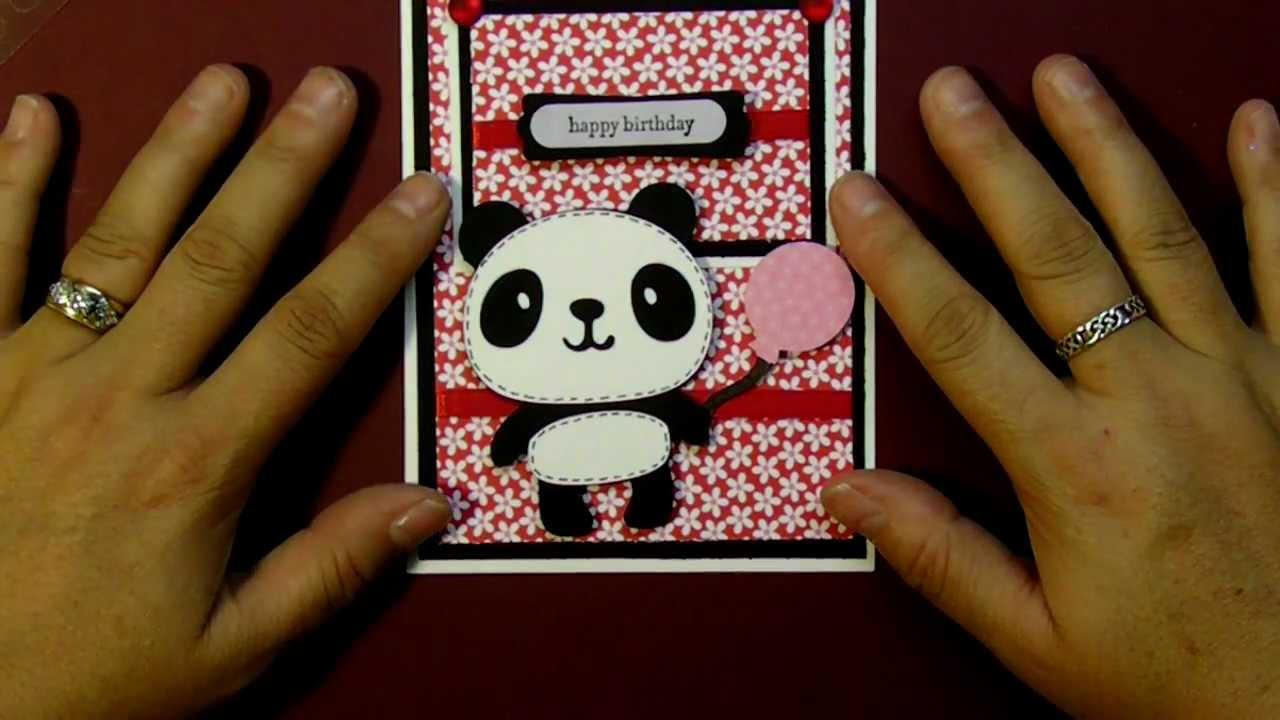 Cricut Panda Happy Birthday Card Using Create A Critter
