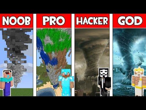 Minecraft - NOOB vs PRO vs HACKER vs GOD : TORNADO in Minecraft ! Animation