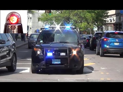 Cambridge Police Cars Responding (compilation)