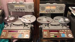 展覧会の絵をリマスター❣️ 左のNAGRA が元テープ・右がリマスター後のテープ 録音レベルが低いテープから、SM900に大迫力の 爆音を注入(笑)‼️...