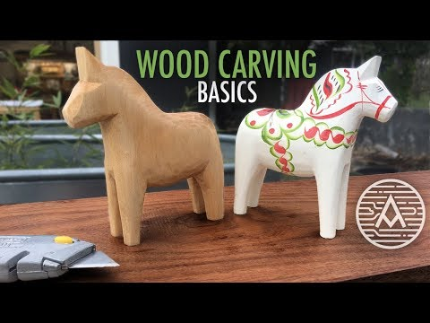 Wood Carving Basics  -- How to Carve a Swedish Horse
