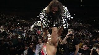"""Macho Man"" Randy Savage vs. Crush - Falls Count Anywhere Match: WrestleMania X"