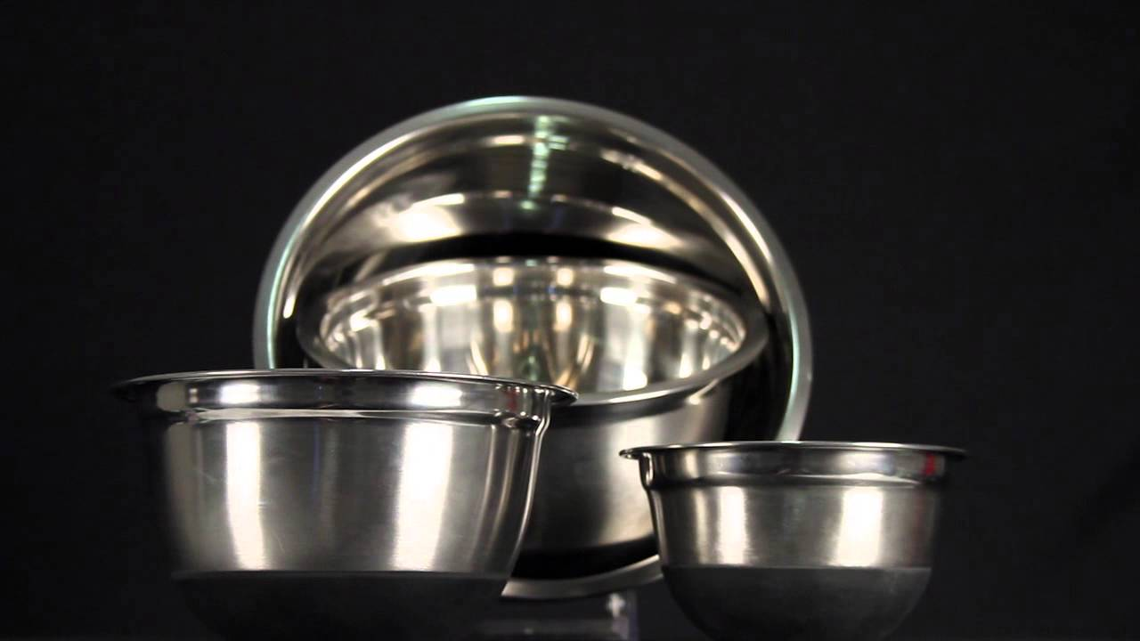 Stainless Steel Mixing Bowls German Design 4 Piece Set (Silicone ...
