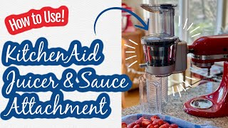 How to Use: KitchenAid Juicer &amp Sauce Attachment