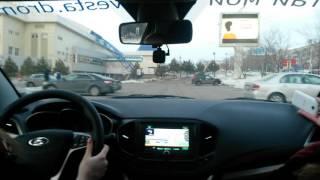 Девушка за рулём Lada Vesta автопортала  Drom.ru (17.03.2016, г. Хабаровск)