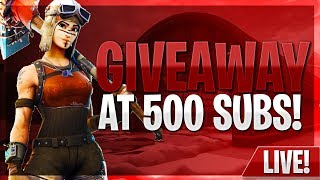 FORTNITE Road To 500 Subs #VEILZ #GIVEAWAYAT500SUBS