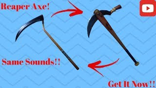 BatSickle a les mêmes sons exactement que la hache de faucheuse (fr) Fortnite Battle Royale - France Get It NOW 2018!!