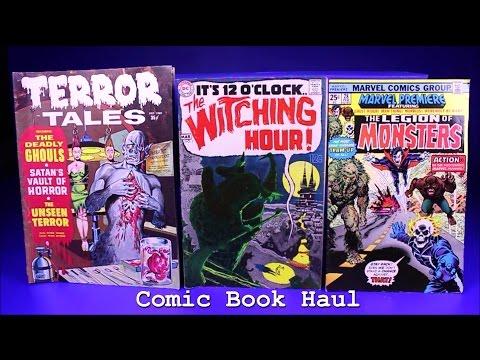 Comic Book Haul Comic Pickups Comic Monday - Horror Comics Bronze Age Silver Age Mystery Box Finds