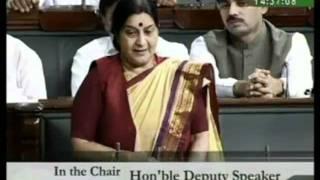 Warning to Government after Lok Sabha Election: Smt. Sushma Swaraj: 08.06.2009