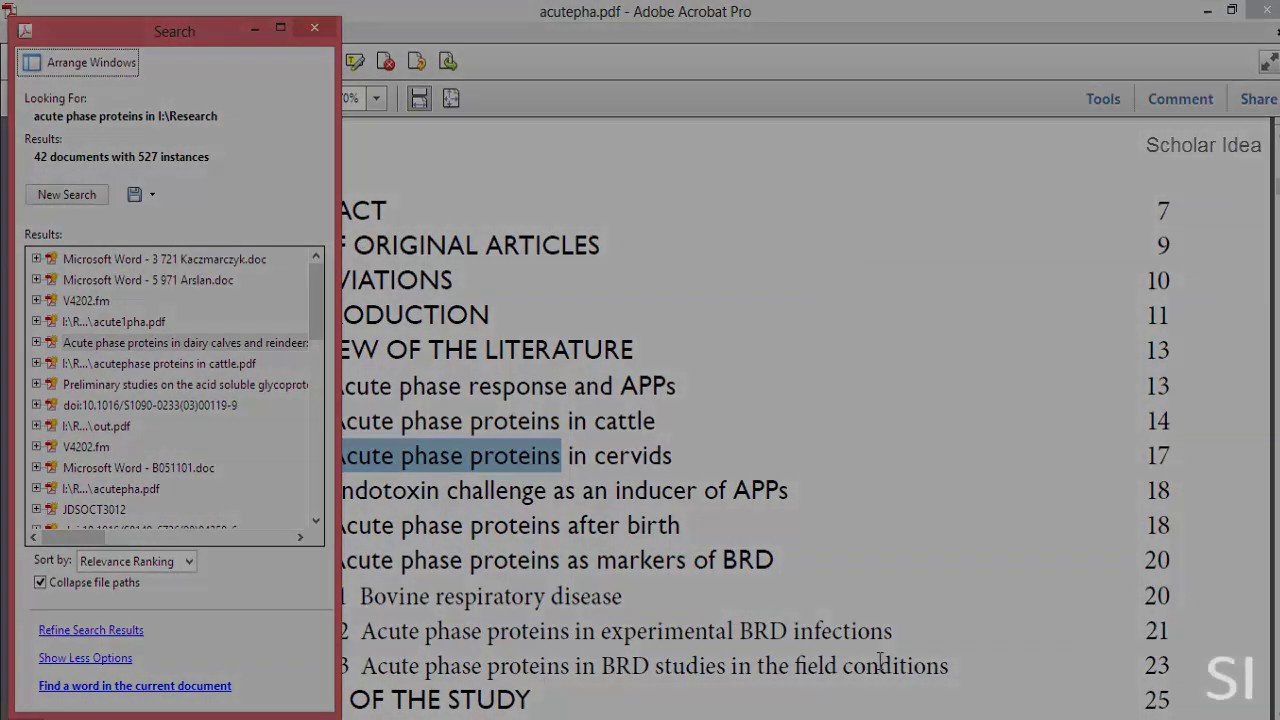 Files pdf search and
