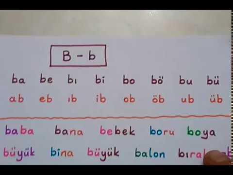 """1.sınıf okuma yazma etkinlikleri """" b """" sesi heceleme, kelime, cümle, metin çalışması"""