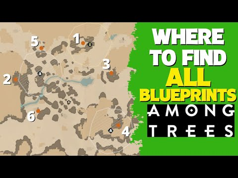 Where To Find ALL Blueprints In Among Trees | Campfire, Fishing Rod & The Rest | Guide, Help
