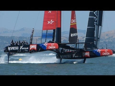 America's Cup: Teams Foiling on San Francisco Bay, May 24 2013