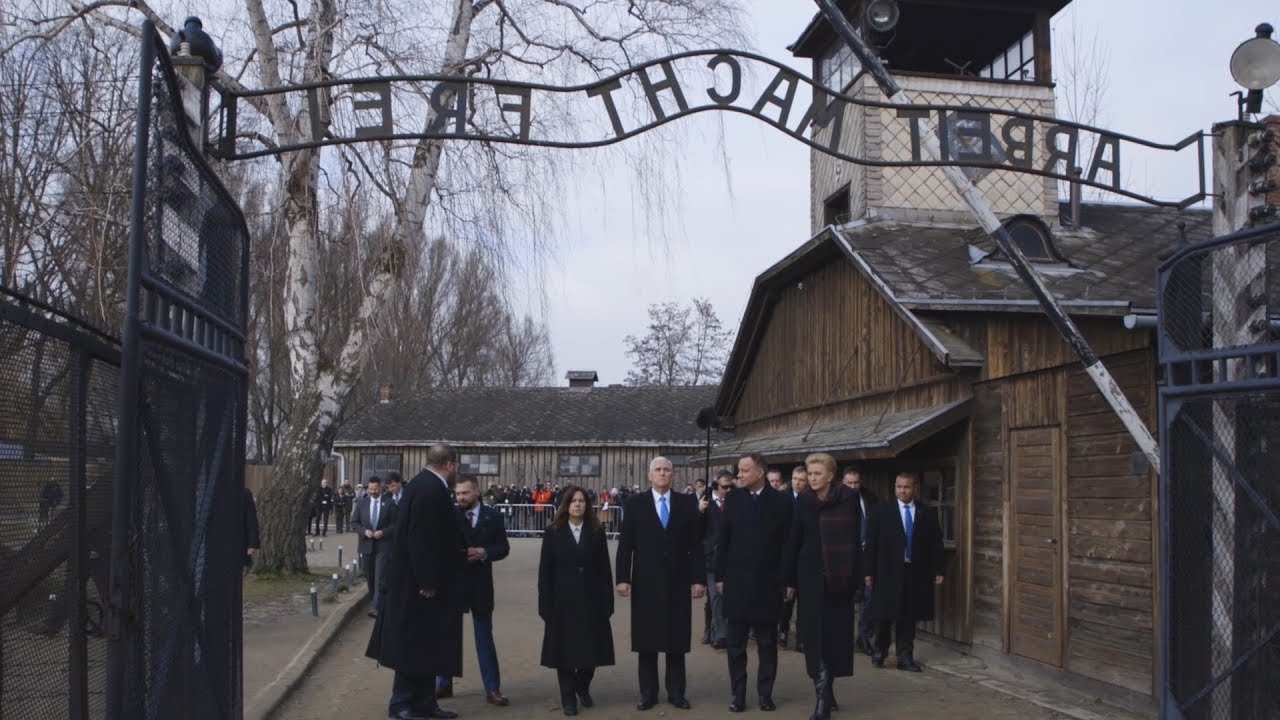 Vice President Pence and Mrs. Pence Visit Auschwitz and Birkenau
