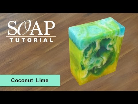 Coconut Lime Melt And Pour Soap Tutorial